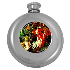 Sunset In A Desert Of Mexico 1 Round Hip Flask (5 Oz)