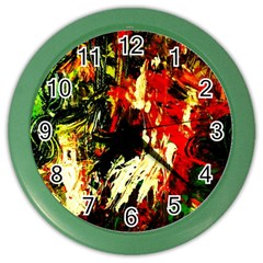 Sunset In A Desert Of Mexico 1 Color Wall Clocks