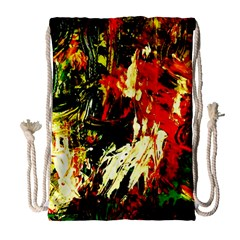 Sunset In A Desert Of Mexico 1 Drawstring Bag (large)