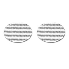 Stripe Black Cufflinks (oval)
