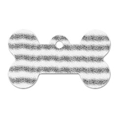 Stripe Black Dog Tag Bone (two Sides)