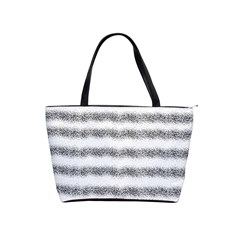 Stripe Black Shoulder Handbags