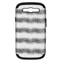 Stripe Black Samsung Galaxy S Iii Hardshell Case (pc+silicone)