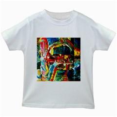 Red Plane 1 Kids White T Shirts