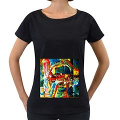 Red Plane 1 Women s Loose Fit T Shirt (black)