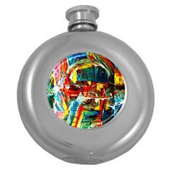 Red Plane 1 Round Hip Flask (5 Oz)