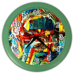 Red Plane 1 Color Wall Clocks
