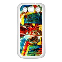 Red Plane 1 Samsung Galaxy S3 Back Case (white)