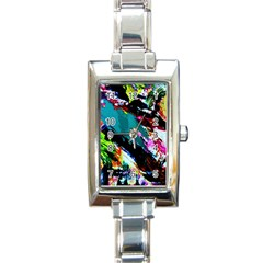 Tulips First Sprouts 6 Rectangle Italian Charm Watch