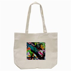 Tulips First Sprouts 6 Tote Bag (cream) by bestdesignintheworld