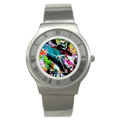 Tulips First Sprouts 6 Stainless Steel Watch