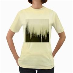 Simple Abstract Art Women s Yellow T-Shirt