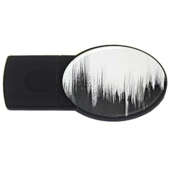 Simple Abstract Art USB Flash Drive Oval (2 GB)