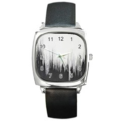 Simple Abstract Art Square Metal Watch