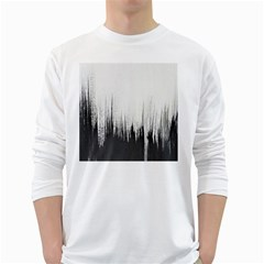 Simple Abstract Art White Long Sleeve T-Shirts