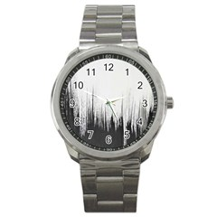 Simple Abstract Art Sport Metal Watch