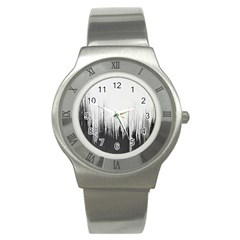 Simple Abstract Art Stainless Steel Watch