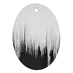 Simple Abstract Art Oval Ornament (Two Sides)