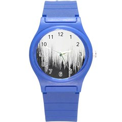 Simple Abstract Art Round Plastic Sport Watch (S)