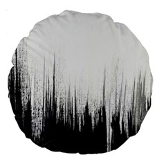 Simple Abstract Art Large 18  Premium Round Cushions