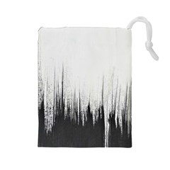 Simple Abstract Art Drawstring Pouches (large)