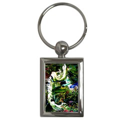 Bow Of Scorpio Before A Butterfly 8 Key Chains (rectangle)  by bestdesignintheworld