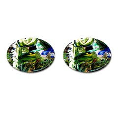 Bow Of Scorpio Before A Butterfly 8 Cufflinks (oval) by bestdesignintheworld