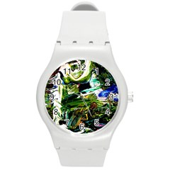 Bow Of Scorpio Before A Butterfly 8 Round Plastic Sport Watch (m) by bestdesignintheworld