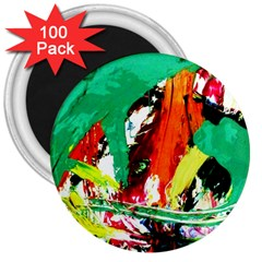 Tulips First Sprouts 7 3  Magnets (100 Pack)