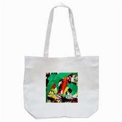 Tulips First Sprouts 7 Tote Bag (white)