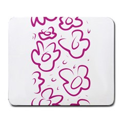 Flower Pink Large Mousepads