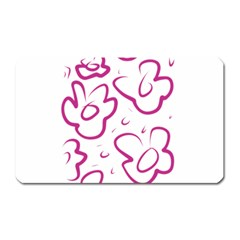 Flower Pink Magnet (rectangular) by goodart