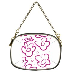 Flower Pink Chain Purses (one Side)