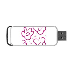 Flower Pink Portable Usb Flash (two Sides)