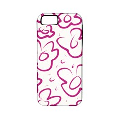 Flower Pink Apple Iphone 5 Classic Hardshell Case (pc+silicone)