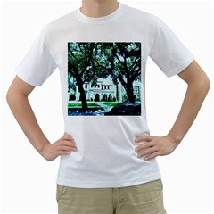Hot Day In Dallas 16 Men s T Shirt (white) (two Sided)