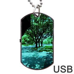 Hot Day In Dallas 5 Dog Tag Usb Flash (one Side)