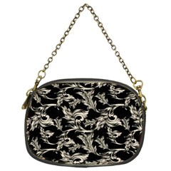 Floral Pattern Black Chain Purses (two Sides)