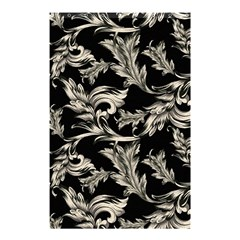 Floral Pattern Black Shower Curtain 48  X 72  (small)