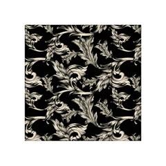 Floral Pattern Black Acrylic Tangram Puzzle (4  X 4 )