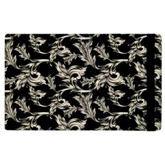 Floral Pattern Black Apple Ipad 2 Flip Case