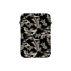 Floral Pattern Black Apple Ipad Mini Protective Soft Cases