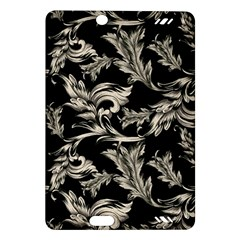 Floral Pattern Black Amazon Kindle Fire Hd (2013) Hardshell Case