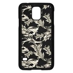 Floral Pattern Black Samsung Galaxy S5 Case (black)