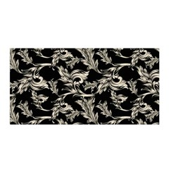 Floral Pattern Black Satin Wrap