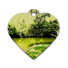 Lake Park 9 Dog Tag Heart (two Sides)