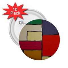Color Block Art Painting 2 25  Buttons (10 Pack)