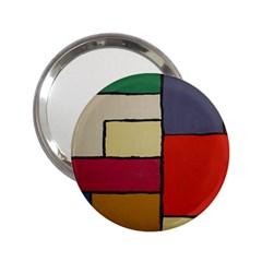 Color Block Art Painting 2 25  Handbag Mirrors