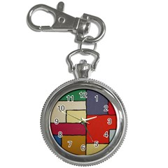 Color Block Art Painting Key Chain Watches