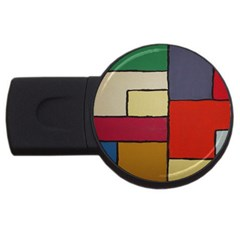 Color Block Art Painting Usb Flash Drive Round (2 Gb)
